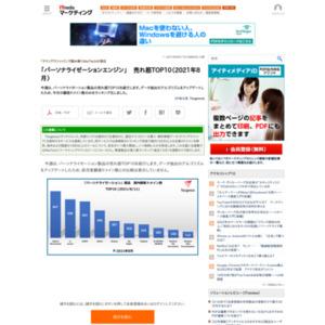「パーソナライゼーションエンジン」 売れ筋TOP10(2021年8月)