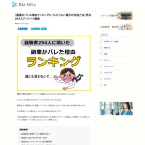 【副業がバレた理由ランキング】男女294人アンケート調査