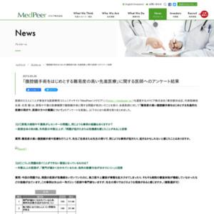 「腹腔鏡手術をはじめとする難易度の高い先進医療」に関する医師へのアンケート
