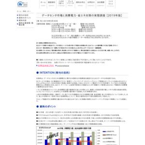 データセンタ市場と消費電力・省エネ対策の実態調査 【2019年版】