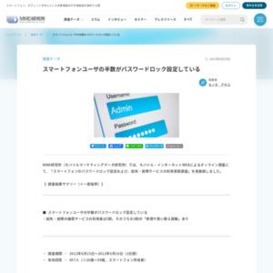 スマートフォンのパスワードロック設定および、紛失・故障サービスの利用実態調査