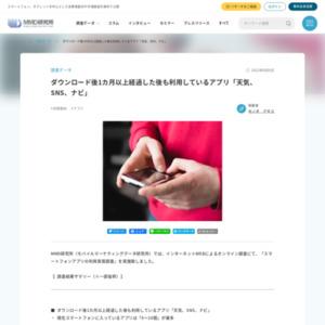 スマートフォンアプリの利用実態調査