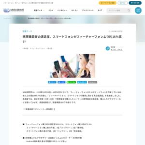フィーチャーフォン、スマートフォンの購買に関する満足度調査