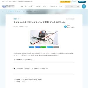 スマートフォンのスケジュールアプリに関する利用実態調査