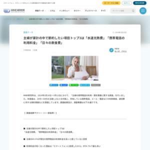 主婦の携帯電話の利用・節約意識に関する調査
