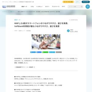 MNPユーザーのスマートフォンネットワーク調査