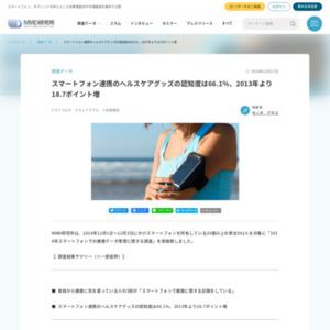 2014年スマートフォンでの健康データ管理に関する調査