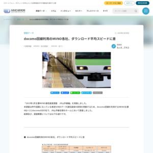 2015年1月主要MVNO通信速度調査 JR山手線編