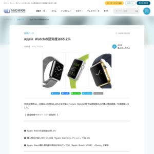Apple Watchに関する認知度および購入意向調査