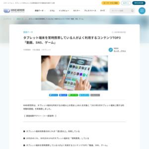 2015年3月タブレット端末に関する利用動向調査