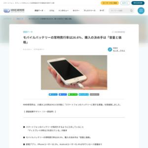 スマートフォンのバッテリーに関する調査