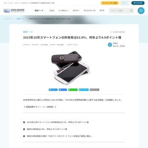 2015年10月携帯端末購入に関する定点調査