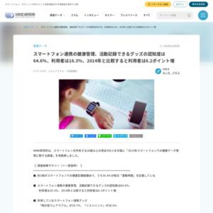 2015年スマートフォンでの健康データ管理に関する調査