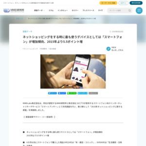 2016年ネットショッピングに関する調査
