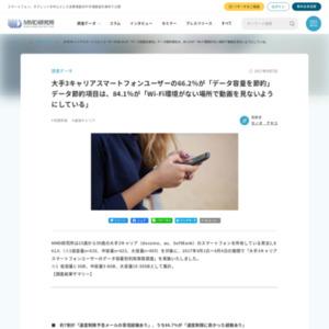 大手3キャリアスマートフォンユーザーのデータ容量別利用実態調査