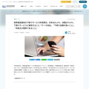 携帯電話端末の下取りサービス利用意向、日本は61.6%、米国は70.0%