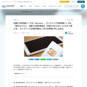 2019年5月 モバイル通信契約に関する調査