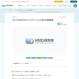 モバイルSNSでのコミュニケーションに関する実態調査