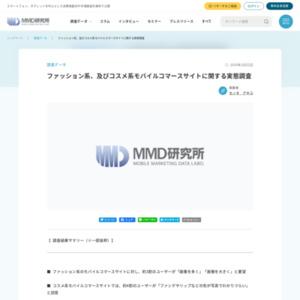 ファッション系、及びコスメ系モバイルコマースサイトに関する実態調査