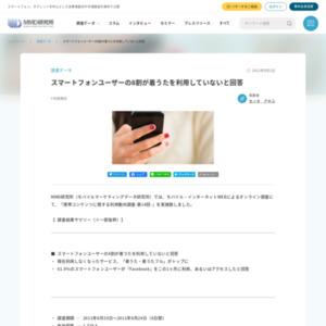 携帯コンテンツに関する利用動向調査-第14回-スマートフォンユーザーの8割が着うたを利用していないと回答