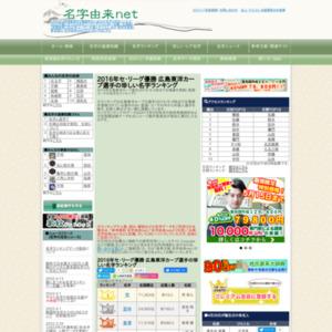 2016年広島東洋カープ選手の珍しい名字ランキング