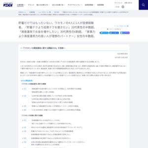ワカモノの資産運用に関する調査2018