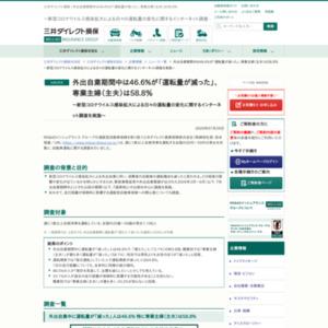 新型コロナウイルス感染拡大による日々の運転量の変化に関するインターネット調査を実施