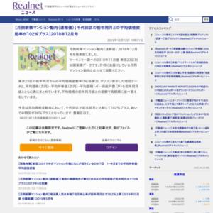 月例新築マンション動向(速報値)2018年12月号