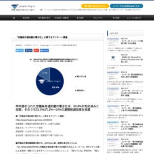 「労働条件通知書の電子化」に関するアンケート調査