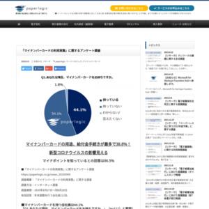 「マイナンバーカードの利用実態」に関するアンケート調査