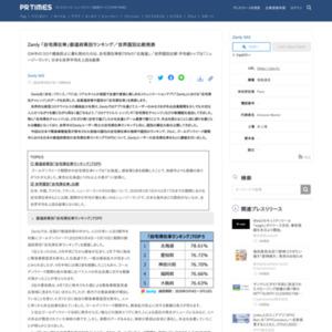Zenly 「自宅滞在率」都道府県別ランキング/世界国別比較発表