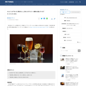 「お酒を飲む頻度」に関する調査