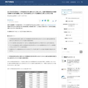 WhatzMoney住宅ローンレポート 2017/04
