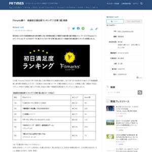 映画初日満足度ランキング(1月第1週)