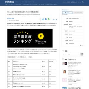 映画初日満足度ランキング(1月第2週)