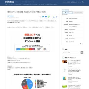 【新型コロナ】7,160名に調査、「現金給付」「10万円」が多数という結果に