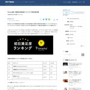 映画初日満足度ランキング(1月第3週)