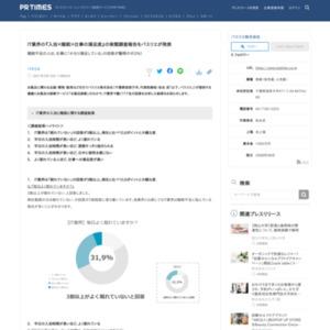 IT業界の『入浴×睡眠×仕事の満足度』の実態調査報告をバスリエが発表