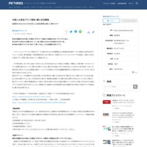 中国人の食品ブランド認知・購入状況調査