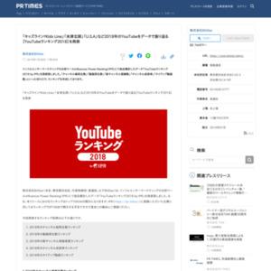 YouTubeランキング2018
