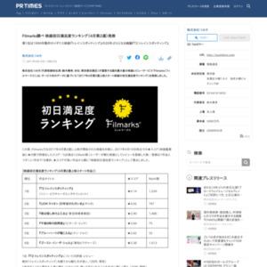 映画初日満足度ランキング(4月第2週)