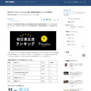 映画初日満足度ランキング(6月第2週)