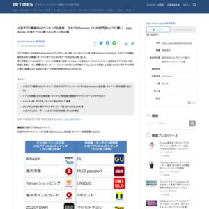 小売アプリ最新MAUランキング