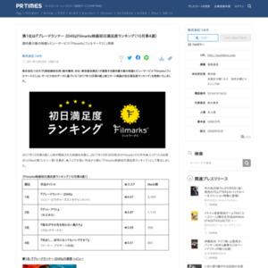 映画初日満足度ランキング(10月第4週)