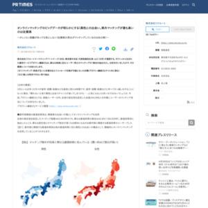オンラインマッチングのビッグデータが明らかにする!異性との出会い。県外マッチングが最も高いのは佐賀県