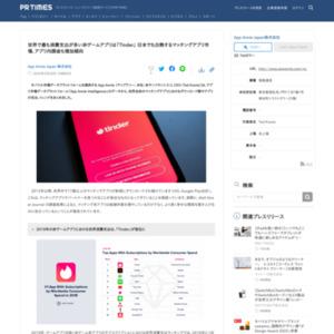 世界で最も消費支出が多い非ゲームアプリは「Tinder」 日本でも白熱するマッチングアプリ市場、アプリ内課金も増加傾向