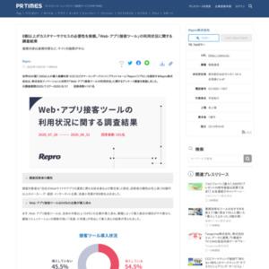 Web・アプリ接客ツールの利用状況に関する調査結果