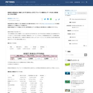 新宿区の飲食店アルバイト最新求人データ