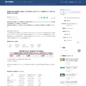 東京都中央区の飲食店アルバイト最新求人データ