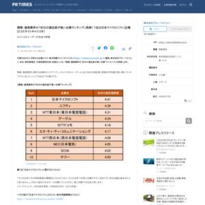 情報・通信業界の「休日の満足度が高い企業ランキング」発表! 1位は日本マイクロソフト